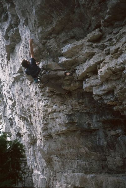 Rock Climbing Photo: Yours truly on Blood Beach back in the late '90s.