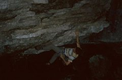 Rock Climbing Photo: On the juggy start of Reanimator.  Most of my pict...