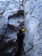 Rock Climbing Photo: Elyse getting funky on the follow