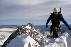 Rock Climbing Photo: Brett high on the ridge.