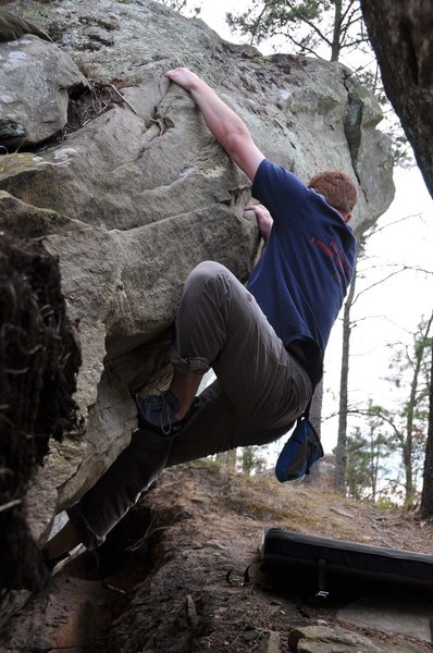 Rock Climbing Photo: Working higher.