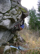 Rock Climbing Photo: Jarrett on one of the projects