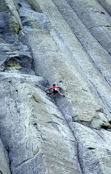 Rock Climbing Photo: A route that is better than it looks from the grou...