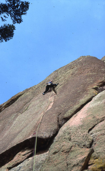 Great crack climbing at Turkey Rock Colorado. Too Much Crack