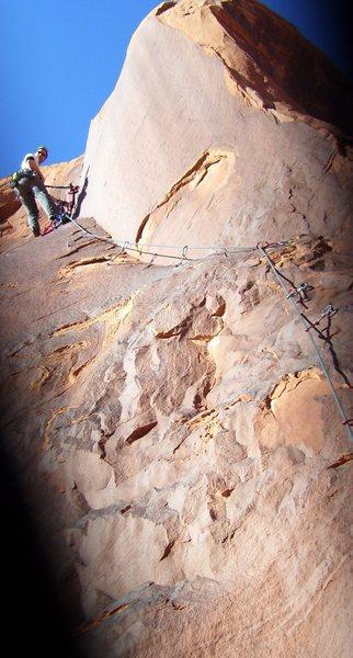Rock Climbing Photo: The easy but fun bolt ladder