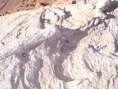 Rock Climbing Photo: Some really old anchor consisting of a really old ...