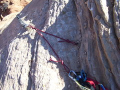 Rock Climbing Photo: The newer, and very nice anchor. Thank you to whom...
