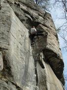 Rock Climbing Photo: At the top of the all-too-short dihedral