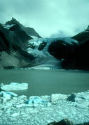 Rock Climbing Photo: Patagonia ice cap sends icebergs into a lake on th...