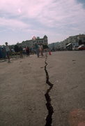 Rock Climbing Photo: Crack in San Francisco street after Loma Prieta Ea...