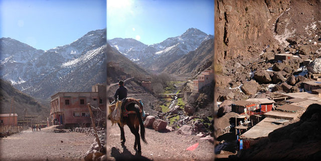 Here is the approach trek to the Toubkal refuge from Imlil