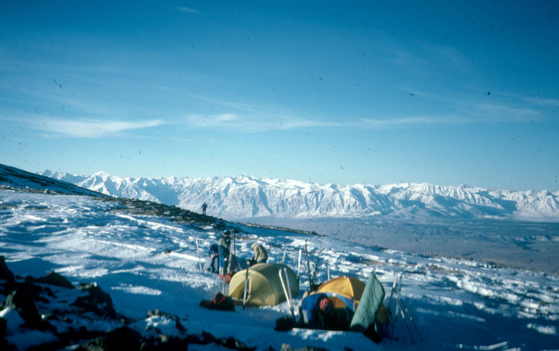 Rock Climbing Photo: Faulting in California.  View from White Mountains...