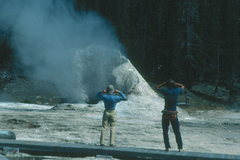 Rock Climbing Photo: Yellowstone hot spot.  Geology theory says that th...
