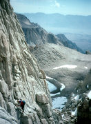 Rock Climbing Photo: Mt Whitney. East Face. CA