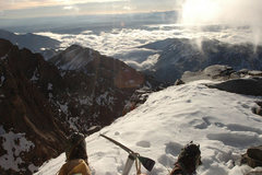 Rock Climbing Photo: The view from the false summit.  The duct-tape on ...