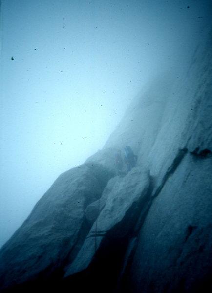 Salathe in bad weather. El Cap. Yosemite