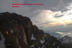 Rock Climbing Photo: You can see the real summit sign