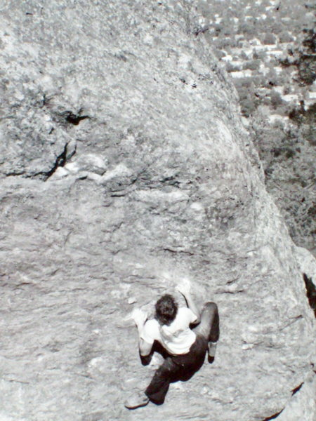 Rock Climbing Photo: Pat Ament at the Flagstaff Amphitheatre.