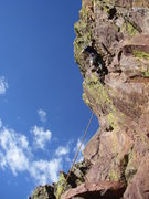 "Rock Climbing Photo: Rob about halfway up the roof on ""Zeros and O..."