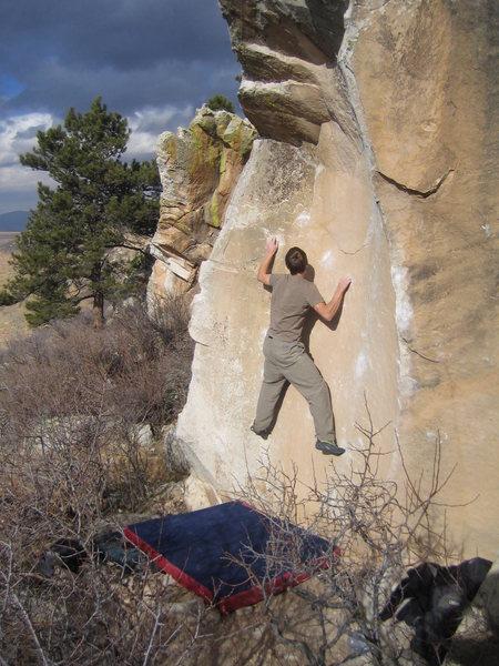 Rock Climbing Photo: Joern hiking the Scoop.