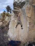 Rock Climbing Photo: Stickin' it.