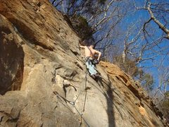"""Rock Climbing Photo: Leading a 5.8... I think its called """"Engineer..."""