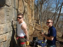 Rock Climbing Photo: Belaying Tony on one of his first climbs