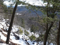 Rock Climbing Photo: Looking down from the base of Brinton's Buttress 2...