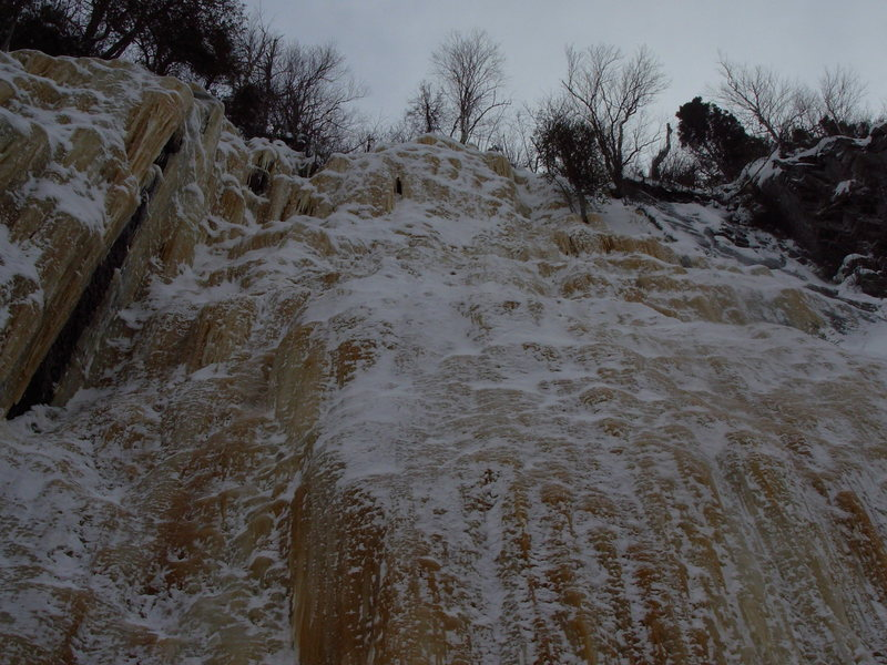 Rock Climbing Photo: Mellow Yellow from the base, the left bulgy start ...
