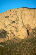 Rock Climbing Photo: The S-Route takes the ramp up and right to the fir...