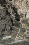 Rock Climbing Photo: Layer Cake approach