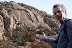 Rock Climbing Photo: Tim has Elk Slabs at hand