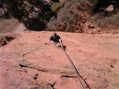 Rock Climbing Photo: Pulling through the potholes while laughing at the...