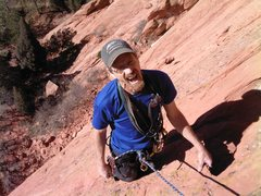 Rock Climbing Photo: Mike Houston relishes another great Garden adventu...