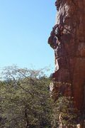 Rock Climbing Photo: Zeke on the first half of Samsonite