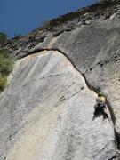Rock Climbing Photo: Dustin on Crimson Cringe