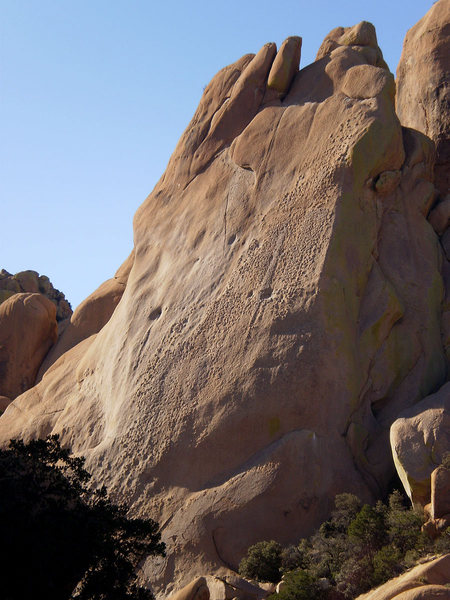 Rock Climbing Photo: I wonder where the route is???  I bet it goes up a...