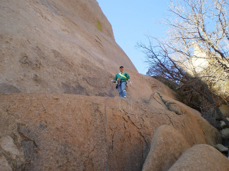 Rock Climbing Photo: Me at the start.  The first bolt is directly above...