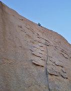 Rock Climbing Photo: Looking up pitch #2.   (susan pic)