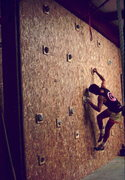 Rock Climbing Photo: Basic wood wall for training.