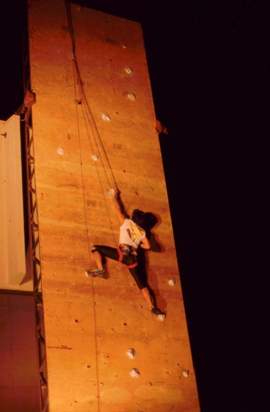 CATS climbing comp at night.