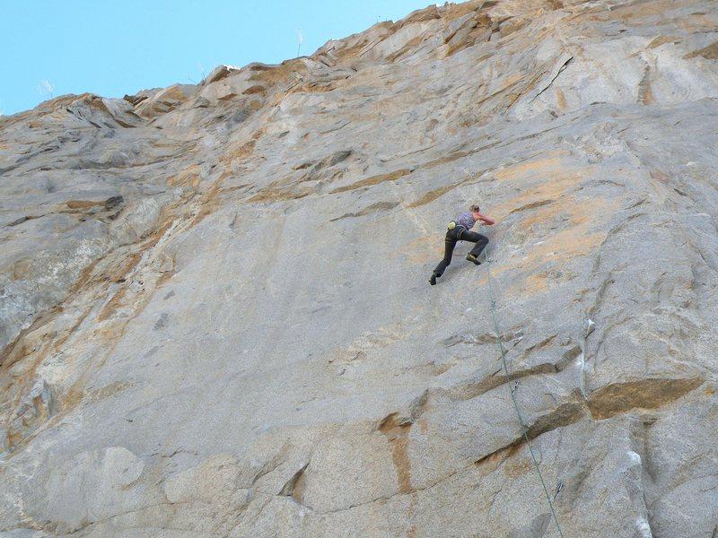 Rock Climbing Photo: Climber on Gypsy