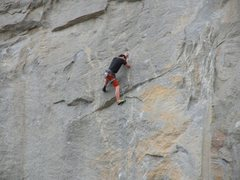 Rock Climbing Photo: Just past the crux on Gypsy