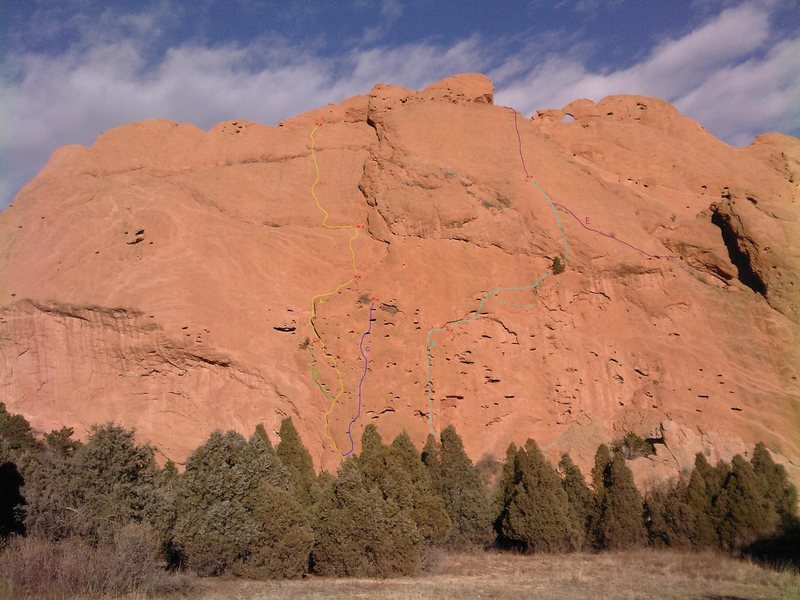 Rock Climbing Photo: The West Face of North Gateway Rock, showing a han...
