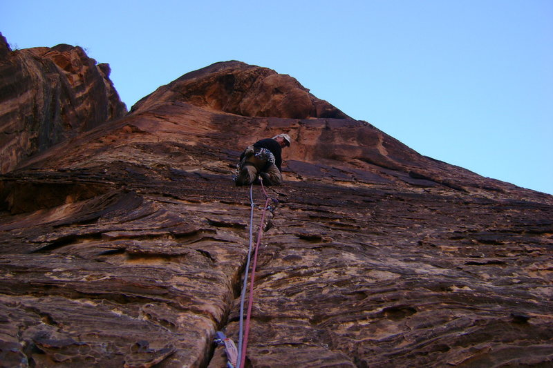 Rock Climbing Photo: start of 2nd pitch