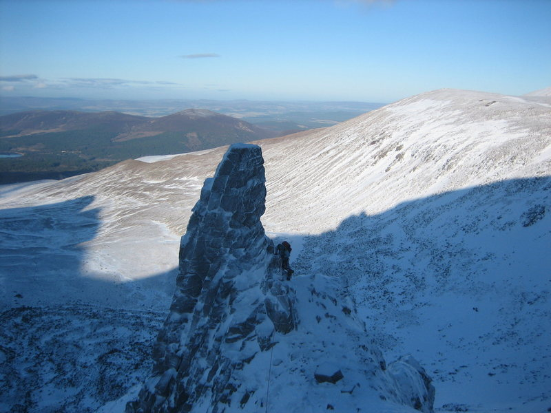 Aladdin's Seat, high above the Coire