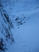 Rock Climbing Photo: Down the couloir