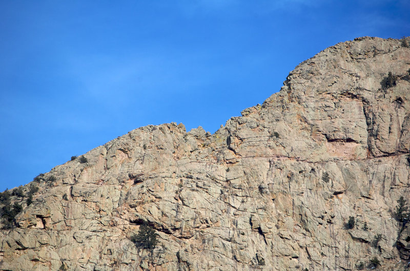 "Rock Climbing Photo: The ""W"" from below..."