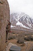 Rock Climbing Photo: Getting into it...  photo: Matt Osbourne