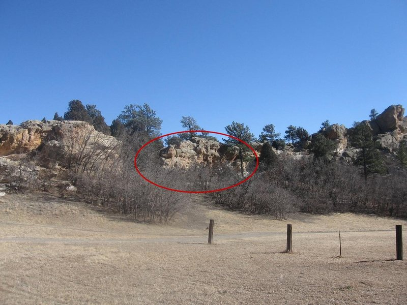 Rock Climbing Photo: Looking at the area from the Centennial/Vindicator...